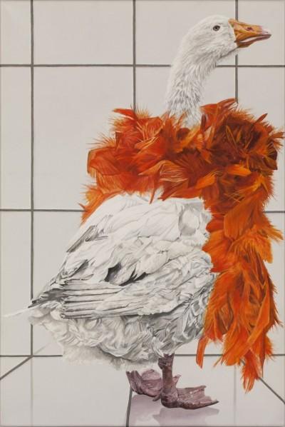 """Birgit Dehn 2015 aus der Serie """"Ich will doch nur dein Bestes"""" Acryl auf Leinwand 40x60cm"""